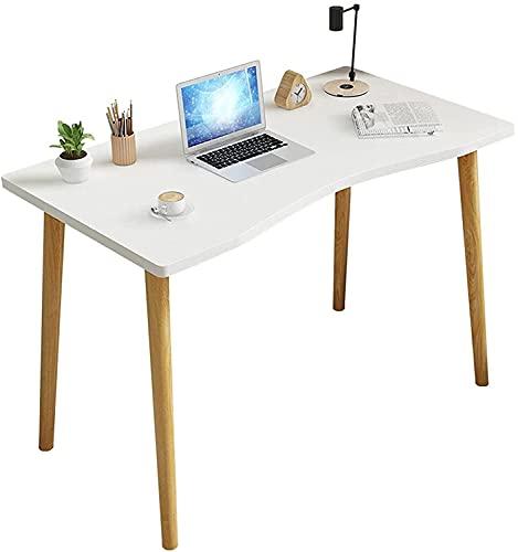 Escritorio de computadora de 32 Pulgadas Oficina Oficina Escritura pequeño Escritorio Moderno Simple Estilo Ordenador Personal Mesa Estudiante Estudio Escritorio Resistente Marco Blanco