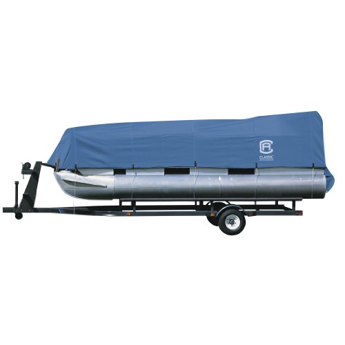 Classic Accessories Stellex Pontoon Boat Cover, Durable Boat Cover with Polyester Fade-Resistant...