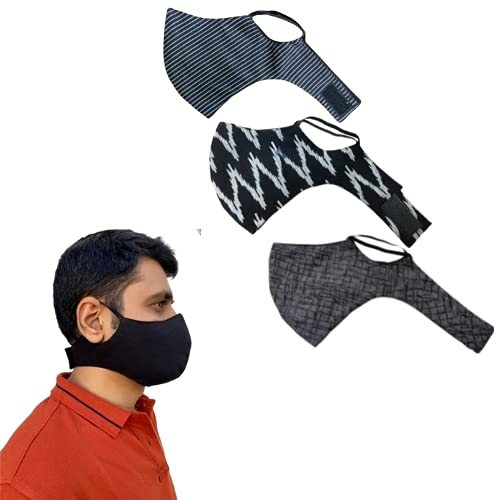 Shaila's Couture Printed Sports Gym Workout Face Masks (PACK OF...