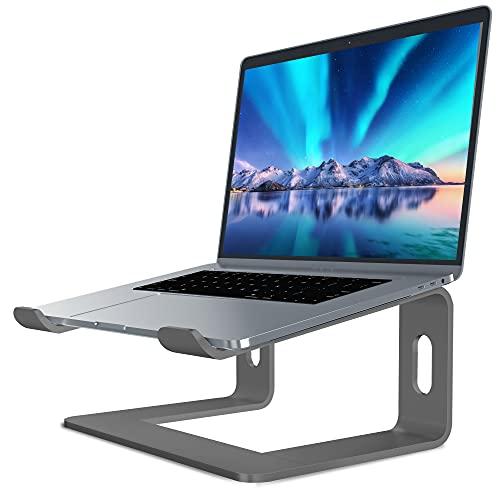 SOUNDANCE Supporto per Laptop in Alluminio Laptop Stand Compatibile con Mac MacBook PRO Air Notebook Apple, Supporto Portatile Riser Ergonomico per PC da 10 a 15,6 Pollici PC Desktop, LS1 Grigio