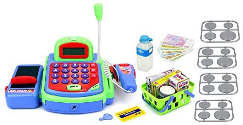 Velocity Toys My First Cash Register Pretend Play Battery Operated Toy...
