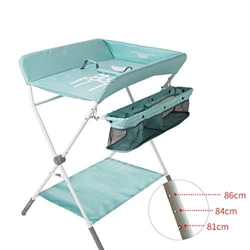 Table à langer pour bébé se pliant, Station de bain nouveau-né pour petit espace, Portable Dresser Toddler 0-3 ans, Soins de massage avec roues verrouillables