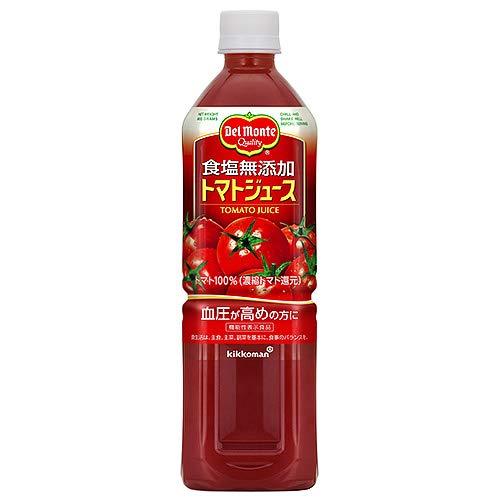 デルモンテ トマトジュース 食塩無添加 【機能性表示食品】 900gペットボトル×12本入×(2ケース)