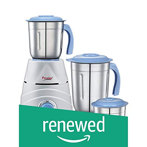 (Renewed) Prestige Tez (550 Watt) Mixer Grinder with 3 Stainless Steel Jars,...