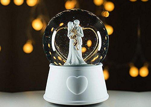 Udane Kreatives Feiertags-Geburtstags Crystal Ball Spieluhr für Valentinstag Hochzeit Geburtstagsgeschenk