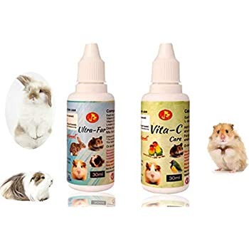 Pet Care International (PCI) Ultra-Fur & Vita-C to Provide Healthy, Long Hairs and Vitamin C for Rodents Including Hamsters, Rabbit, Guinea Pigs, Mice, Dwarf, Gerbill, Sugar Gliders (Combo) (30ml)