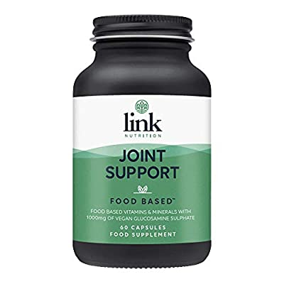 Joint Support [Food Based] | 1000mg Vegan Glucosamine Sulphate + Turmeric | Vitamin C contributes to Normal Collagen Formation for The Normal Function of Bones and Cartilage | Vegan | 60 Vegecaps