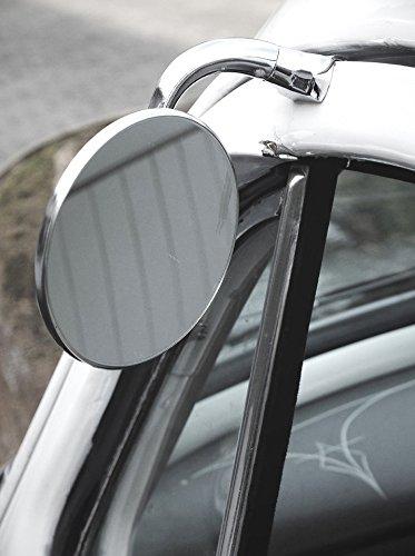 Rétroviseur universel en acier inoxydable pour côté conducteur et passager.