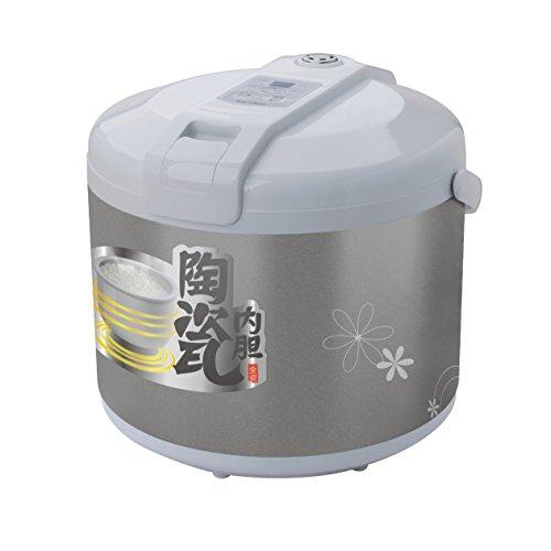 Hannex RCTJ200S Ceramice Rice Cooker, 2 L, White