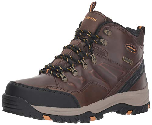 Skechers Herren RELMENT-TRAVEN-65529 Klassische Stiefel, Braun (Dark Brown Leather Dkbr), 42 EU
