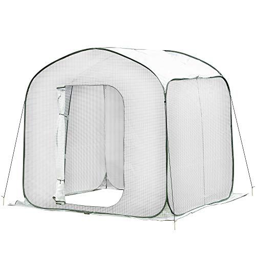 Outsunny 7' x 7' x 7' Garden Portable Pop Up Greenhouse with Side Door & Portable Zipper Bag for Plants & Vegetables