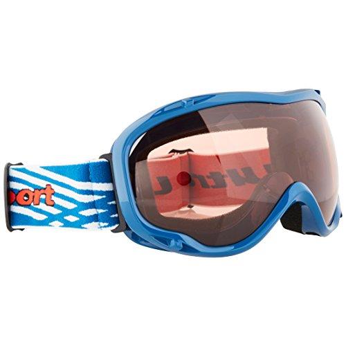 Ultrasport Skibrille / Snowboardbrille mit Antibeschlag-Scheibe, blau/pink