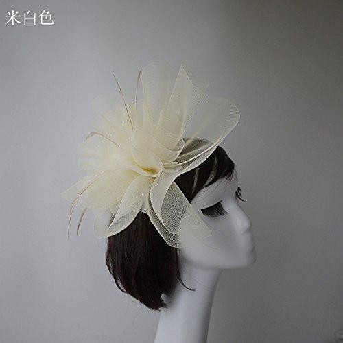 Olici MDRW-Bruid Bruiloft Prom Haarspelden Dans Club Halloween Dans Feestartikelen Paard Haar Garen Veer Headdress Will