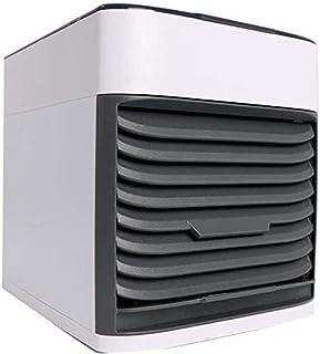 Ventilador de aire acondicionado portátil para el hogar, oficina, dormitorio, humidificador supersilencioso, control de ventilador de 3 velocidades, carga USB, tanque de agua a prueba de fugas