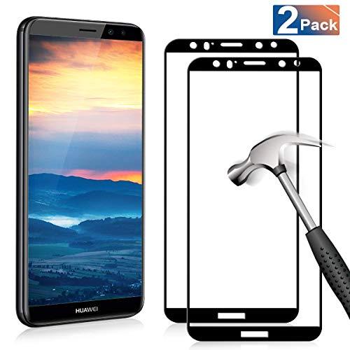 YIEASY 2 Piezas Vidrio Templado para Protector de Pantalla Huawei Mate 10 Lite, dureza 9H Anti-arañazos 0720