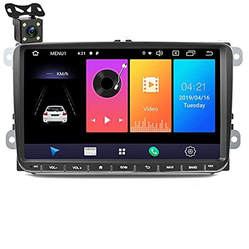 Autoradio 9 pollici Lettore multimediale Audio stereo Android Navigazione GPS WIFI Collegamento specchio Touch Screen per V / W Passat Golf MK5 MK6 Jetta T5 EOS POLO Touran Seat Telecamera posteriore