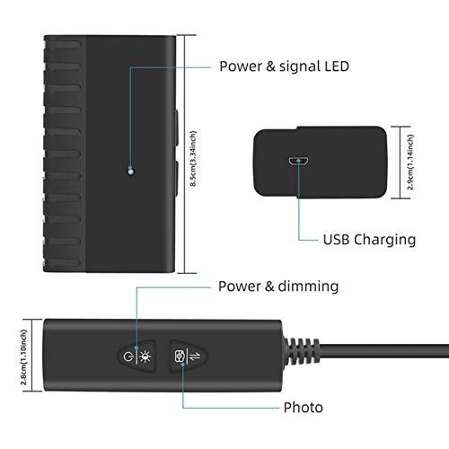 Verifique la cámara Cámara de 5.0 megapíxeles 5,5 mm HD 1080P endoscopio inalámbrica IP67 inspección de la serpiente con la batería 2600mAh for iOS y Android for tabletas Móvil Se utiliza para el mant