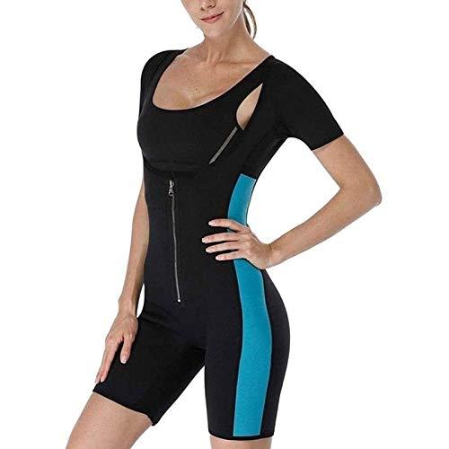 Neopren-Korsett für Damen, Sport, Gewichtsverlust, Fettverbrennung, Bauchkorsett (Color : Blue, Size : M)