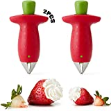 Strawberry Entstrunker 2 Stücke Küche Multiwerkzeug Edelstahl Stiel Entferner Samen Entferner Werkzeug Edelstahl Tomaten Entferner Erdbeerzange Strawberry Tomatenstrunk Zum Dekorieren Von Obst Gemüse