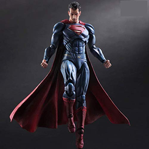 1yess Statue Held Klassische Superman-Puppe Joint Mobility Modell Desktop-Anime-Dekoration 28cm