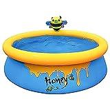 Piscina hinchable para niños, piscina redonda grande, piscina familiar, piscina de jardín, piscina infantil, piscina hinchable de jardín para adultos, bebés, al aire libre, 150 x 150 x 45 cm