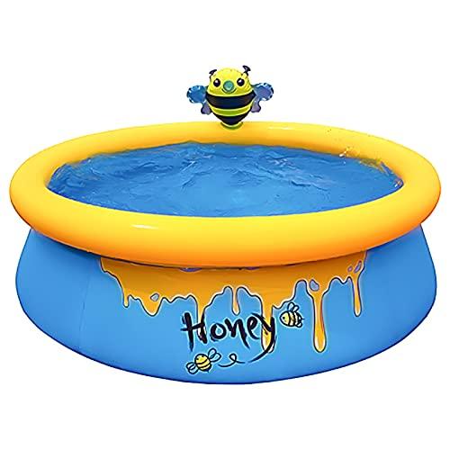 Piscina hinchable en maceta de abeja, piscina para niños de PVC grueso, gran piscina de riego automático, piscina hinchable para niños, juegos de agua