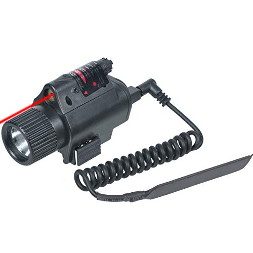 Airsoft Gun Red Laser Flashlight Combo with Picatinny Rail Mount for Pistol Tactical Light
