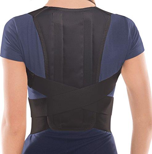 TOROS-GROUP Posture Corrector Brace – Back/Shoulder Support - X-Large Nero