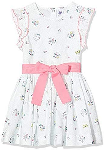Petit Bateau 5350701 Vestido, Multicolor (Marshmallow/Multico Bfq), 4 años para Niñas