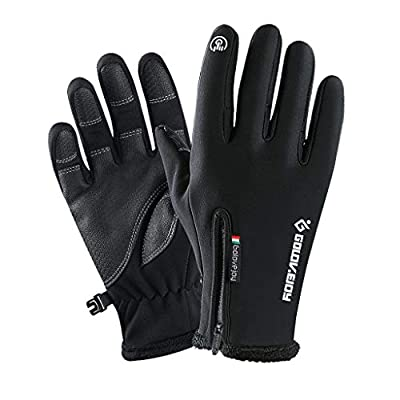 BXzhiri Winter Gloves,Windproof Zipper Outdoor Touchscreen Thermal Gloves for Men Women Riding Mountaineering Gloves Warm Gloves