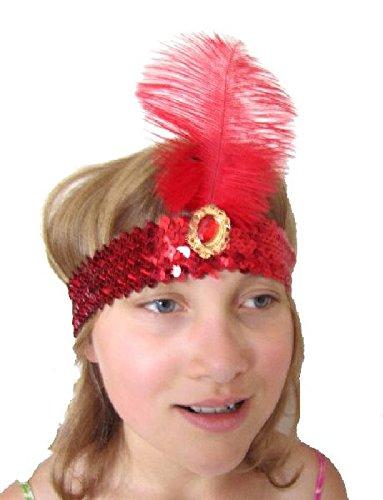Mondial-fete - Coiffe mistinguette Rouge