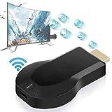 Dispositivo Schermo Wireless Schermo Wifi Hdmi Receiver Mirroring Adattatore Per Android/Iphone/Ipad/Windows/Miracast/Mac Os Per Tv/Proiettore/Monitor-nero