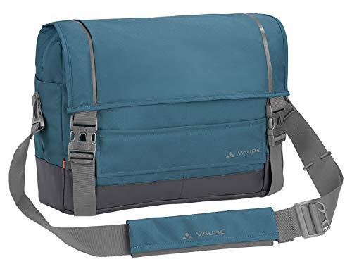 VAUDE Hinterradtaschen Cyclist Messenger M, Citytasche zum Radfahren, mit Laptopfach, blue gray, one Size, 121829810