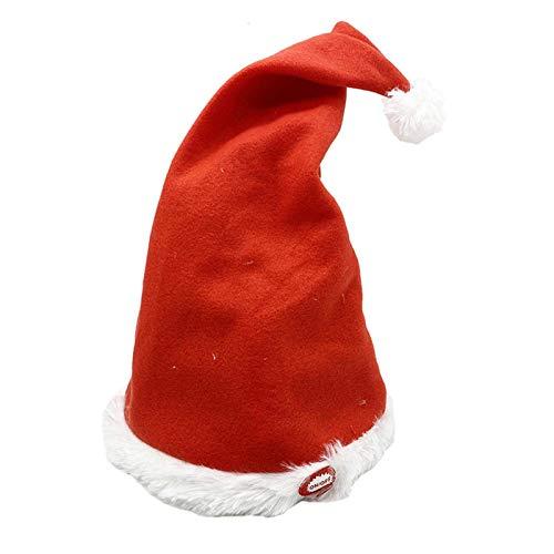 Santa Hüte, Elektrisch Weihnachten Hut Singend Tanzende Mit Plüsch Rand, Batteriebetrieben Santa Kappe Mit Musik Weihnachten Klassisch Hut Für Heim Dekor Weihnachten Party Show, Long Fluff