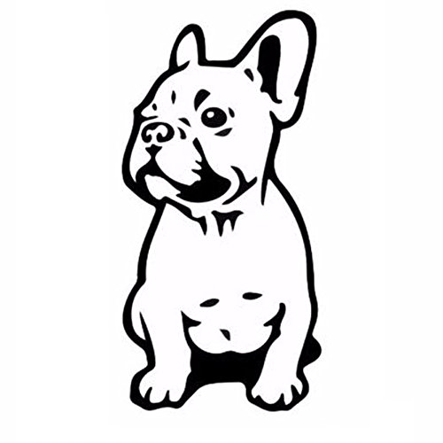 7.515.2CM FRENCH BULLDOG Dog Car Stickers Pet Breed Puppy Vinyl Decals Funny Animal Creative Cartoon Window Sticker Car Styling black