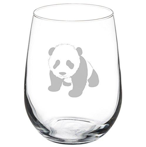 Wine Glass Goblet Baby Panda (17 oz Stemless)
