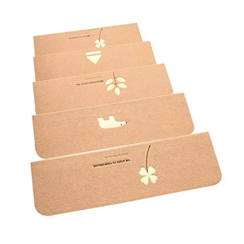Antislip yogamat voor vloerbedekking van Nordic modern traptapijt, mengmateriaal, absorberend en antislip, geschikt voor trappen (21 x 55 cm), 5 verpakkingen, 2 maten, 3 uitvoeringen