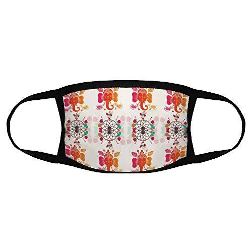 Volwassen Gewone Masker Patroon Ontwerp Patroon Lijn Visuele Kunsten Inpakpapier Bloemen Ontwerp kleur30 Een Maat Sport Gezicht Cover Up