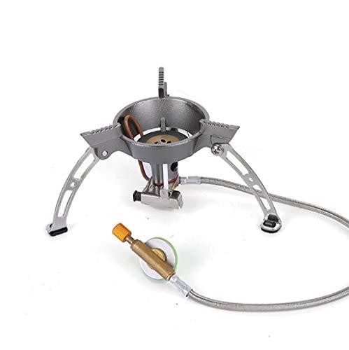 Acampar quemador de gas estufa, 1940W plegable mini portátiles a prueba de viento estufa de mochila, con encendido piezoeléctrico y ajuste de la potencia de fuego, que acampa yendo de la cocina mochil