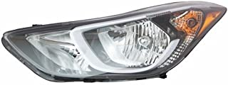 Go-Parts - OE Replacement for 2014 - 2016 Hyundai Elantra Front Headlight Assembly Housing / Lens / Cover - Left (Driver) Side 92101-3Y500 HY2502187 Replacement For Hyundai Elantra