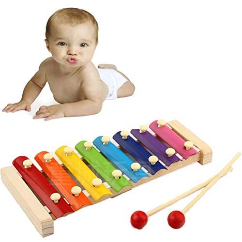 Daxoon Acht Noten Klopfen Sie am Klavier Xylophon Musical Spielzeug für Kinder