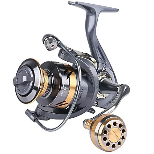 MHSHKS Carrete Giratorio Carrete De Pesca 12 + 1BB Spinning 5.2: 1 Relación De Engranaje Carrete De Pesca De Carpa De Alta Velocidad para Carretes Giratorios De Agua Salada (Spool Capacity : 7000)