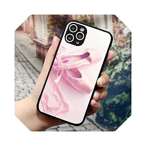 Ballerina Dance Ballet Girl Shoes Phone Case for iPhone 11 12 Mini Pro XS Max 8 7 6 6S Plus X 5S SE 2020 XR-A6 for iPhone 5 SE 5S