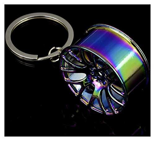 Llavero Clave de colores cadena de metal clave de neumáticos de pistón turbo rueda llavero piezas de automóviles coche creativa anillos de accesorios for el automóvil colgante for regalo cartoon
