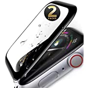 Screen Protector 44mm for Apple Watch Series 6/SE/5/4 [2 Pack] 3D Curved, Easy installation, Bubble Free, Anti-Fingerprint,HD Clear, 9H Tempered Glass Compatible Apple iWatch 44mm