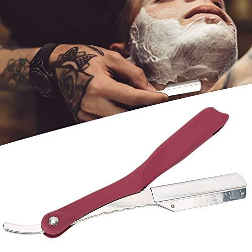 Navaja de afeitar profesional, navaja de barbero para doblar, navaja d