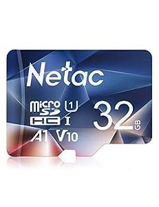 Netac 32GB microSDHC Card, microSDHC UHS-I Card - 90MB/s, 600X, U1, C10, V10, A1, FAT32, High Speed TF Card - P500