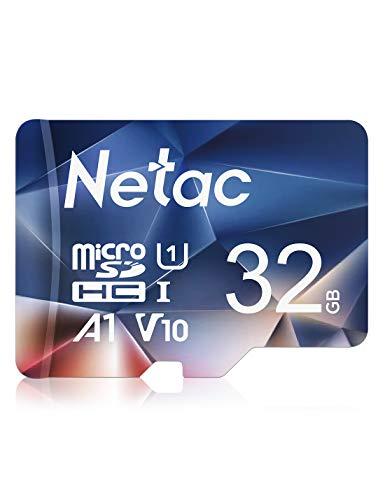 Netac 32G Scheda Micro SD, Scheda di Memoria A1, U1, C10, V10, FHD, 600X, UHS-I velocità Fino a 90 10 MB Sec(R W) Micro SD Card per Telefono, Videocamera, Switch, Gopro, Tablet