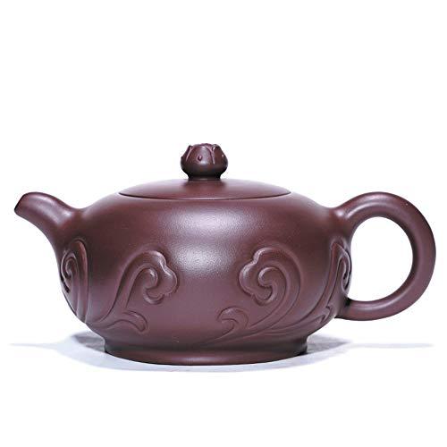 GYZD Tetera De Arcilla Morada Yixing Zisha Tea Pot Dragon Tea Pot Ceramics Traditional Kungfu Tea Set Ruyi Square Ancient Home Tea Set