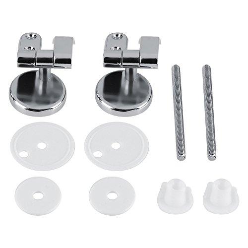 Tuercas de tornillo, Wacent Hotel Set Bisagra de asiento de inodoro de repuesto Bisagra cromada con accesorios Baño con accesorios